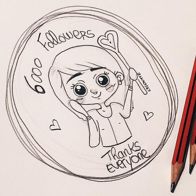 / Vous êtes plus de 6000 #igers à me suivre, petit #dessin pour vous remerciez ? / You are more than 6000 igers to #follow me, thank you for small #drawing | #illustration #lyloutte